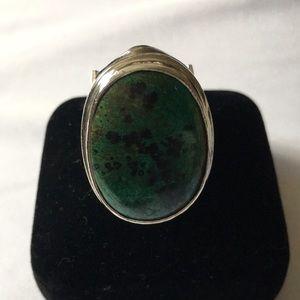 NN Malachite Sterling Silver Ring
